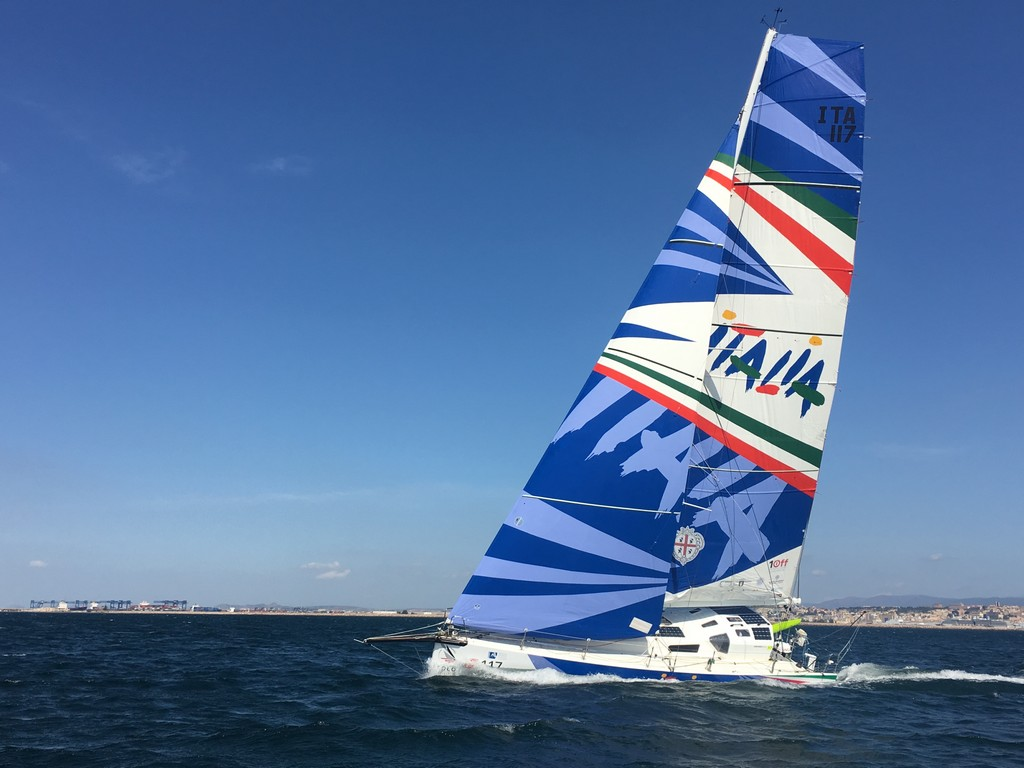 Gaetano Mura Solo Round Globe Record class 40 Italia 01