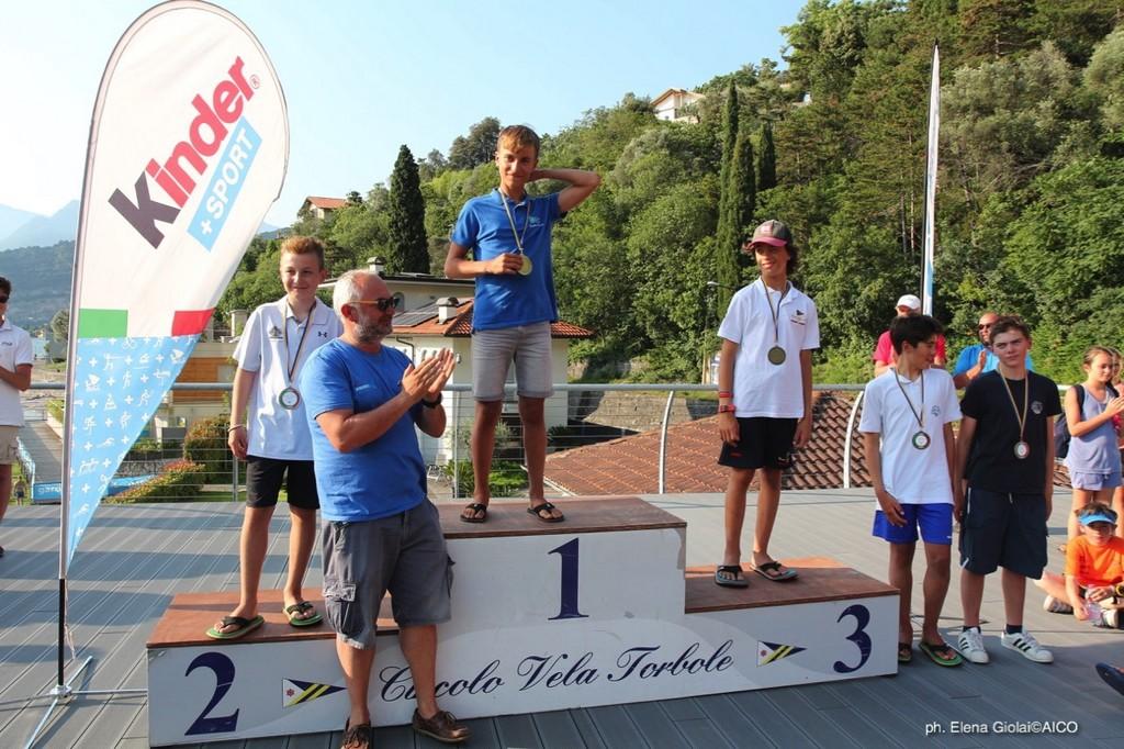 Premiazione 44° Trofeo d'Argento•3^ tappa Trofeo Optimist Italia Kinder + Sport 2018