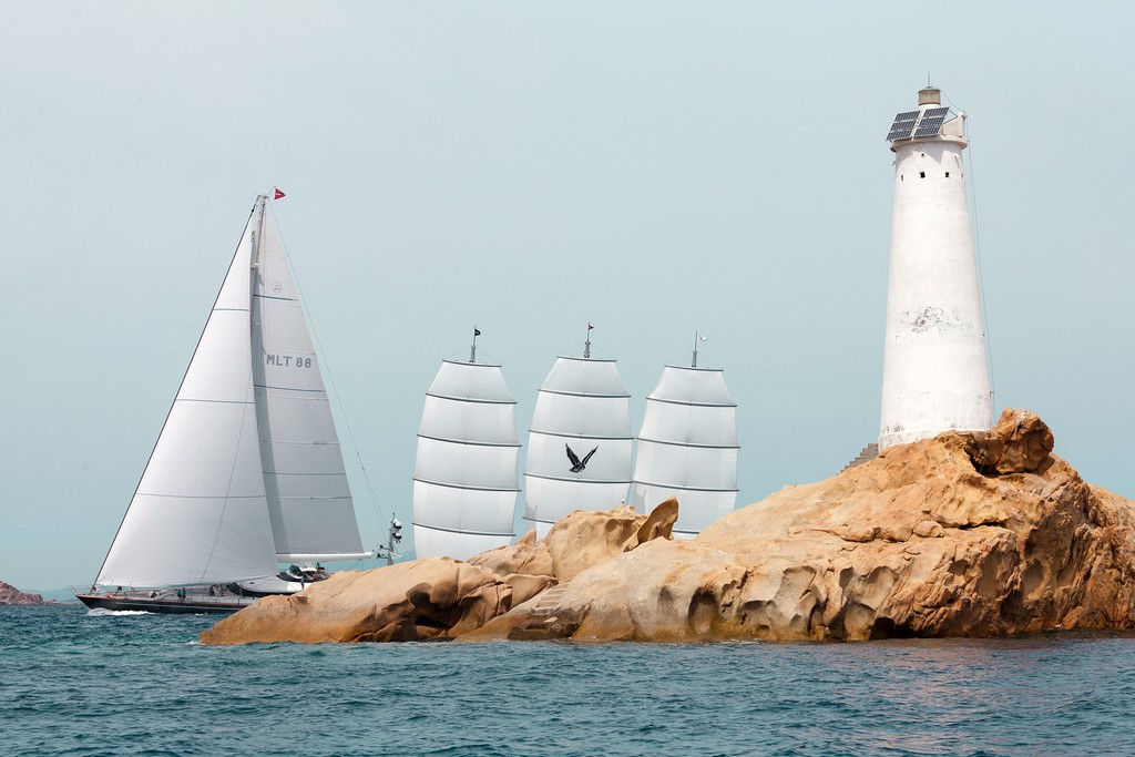 CLAN VIII Length: 45 m Type: sloopTHE MALTESE FALCON Length: 88 m Type: clipper