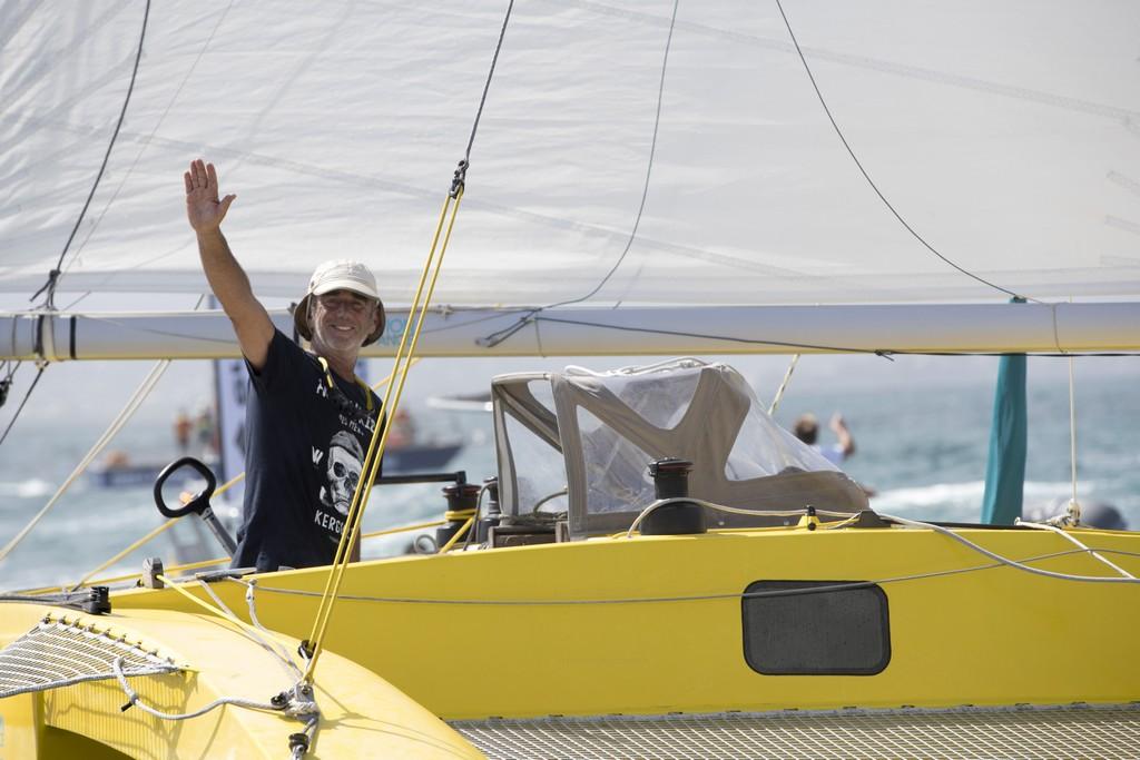 Loick Peyron, skipper du Rhum Multi Happy, 4eme de la Route du Rhum-Destination Guadeloupe 2018 - Pointe a Pitre le 25/11/2018