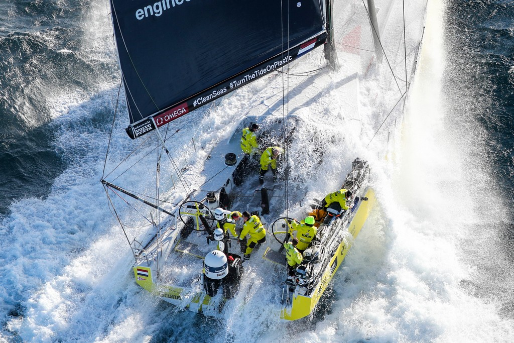 Start of Leg 2. Day 1 from Lisbon to Cape Town. Photo by Ainhoa Sanchez/Volvo Ocean Race. 05 November, 2017.