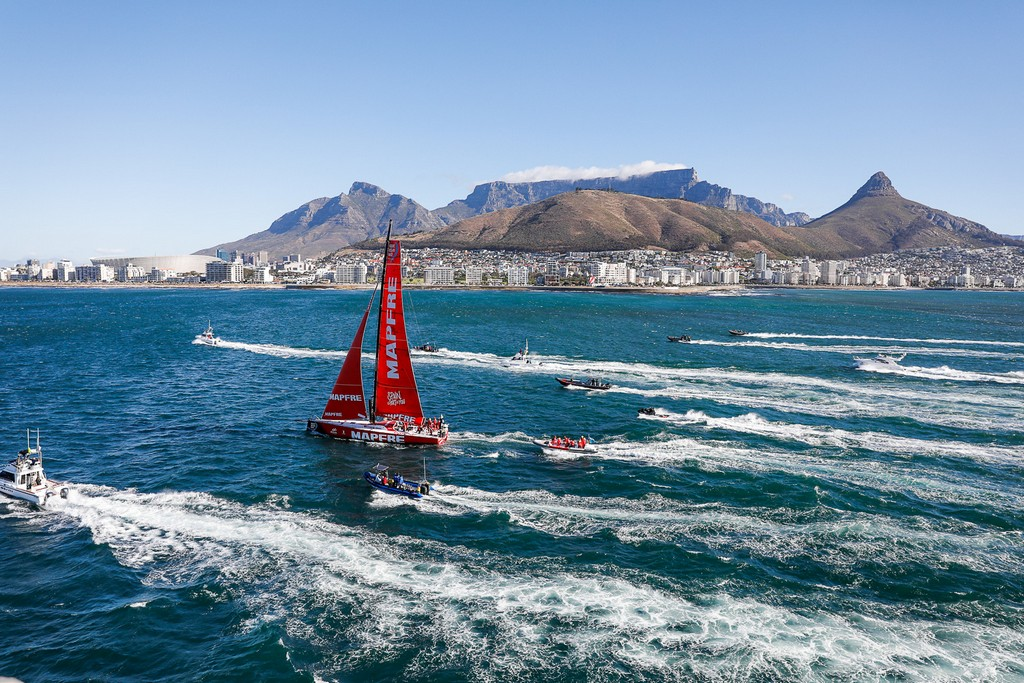 Leg 2. Arrivals from Lisbon to Cape Town. Photo by Ainhoa Sanchez/Volvo Ocean Race. 24 November, 2017.