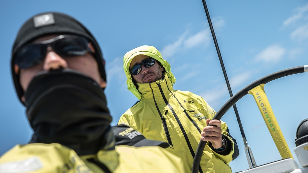 Leg 2, Day 18, Lisbon to Cape Town, Bad boys Carlo Huisman and Alberto Bolzan, Photo by Rich Edwards/Volvo Ocean Race. 23 November, 2017