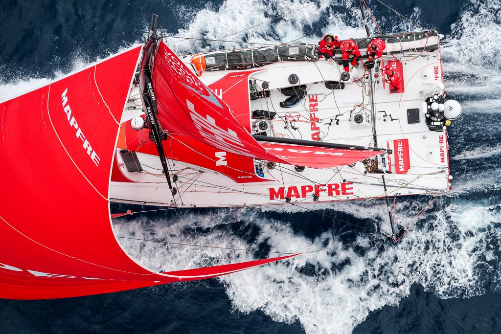Leg 3, Cape Town to Melbourne, arrivals. Photo by Ainhoa Sanchez/Volvo Ocean Race. 24 December, 2017.