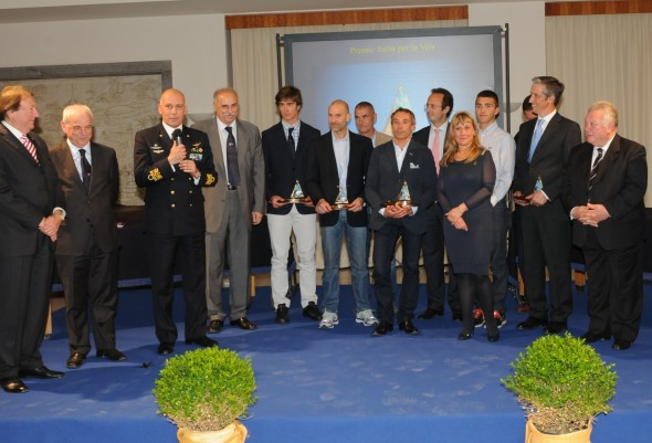 I vincitori del Premio Italia per la Vela, edizione 2012