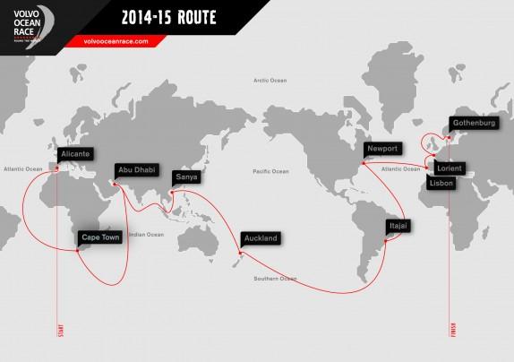 rotta volvo ocean race 2014 2015