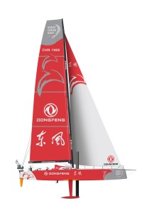 The design for Team Dongfeng Volvo Ocean 65 yacht was revealed in Wuhan, China.