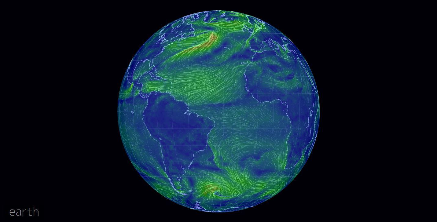 Tutti i venti che soffiano sulla terra in tempo reale for Puoi ipotecare la terra