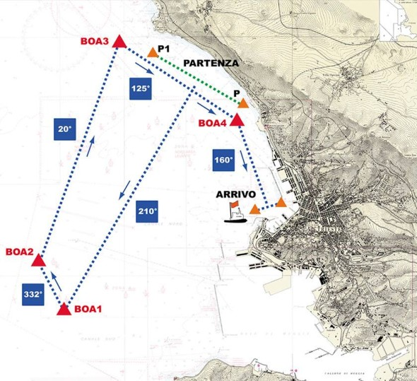 Mappa barcolana 49 2017