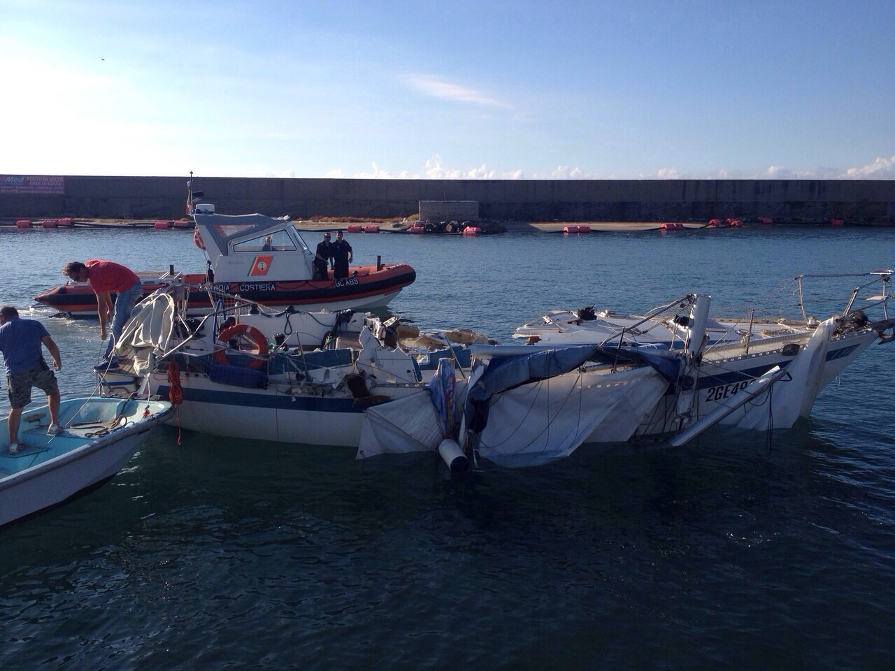 Scontro tra imbarcazioni al circeo 4 feriti velablog mistro for Barche al largo con cabine