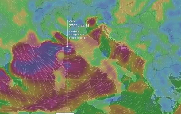 previsione vento 21 11 2015