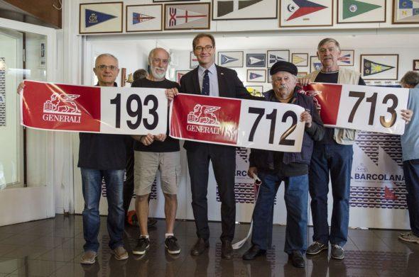 Da sinistra: Roberto Piretti, Graham Thow, Mitja Gialuz, Ivan Pivac e Marino Domio