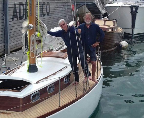 Mauro Pelaschier a bordo di Crivizza