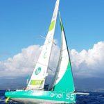 Andrea Fantini arrivo Route du Rhum 2018