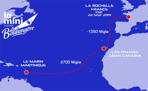 Mini-transat 2019 mappa